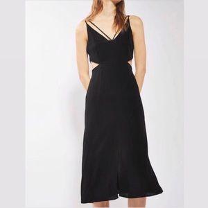 🌻 TOPSHOP Black Strappy Cut-Out Midi Dress 🌻
